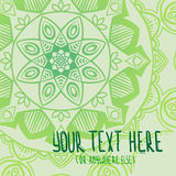 Green mandala abstract background Royalty Free Stock Images