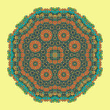 Green Mandala Background for greeting card Royalty Free Stock Image