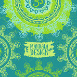 Green Mandala background. Round Ornament Pattern. Vintage decorative poster. Royalty Free Stock Photos