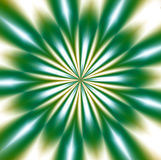 Green mandala design, abstract background Stock Photography