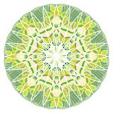 Green mandala for energy and power obtaining, mandala for meditation training Stock Photography