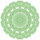 Green Mandala Isolated Stock Photo