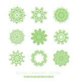 Green mandala Royalty Free Stock Image