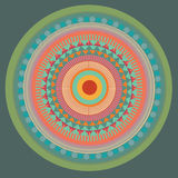 Green mandala. vector  illustration Royalty Free Stock Photography