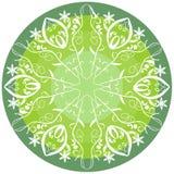 Green mandala for vitality. Circle green mandala for vitality obtaining Royalty Free Stock Photo