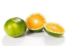 Green mandarin Stock Images