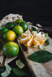 Green Mandarins Stock Image