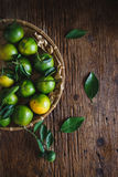 Green Mandarins Royalty Free Stock Photos