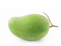 Green Mango. On white background stock image