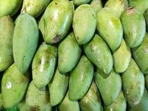 Green mango. Close up shot of thai green mangoes Stock Photo