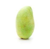 Green mango, isolated on white. Stock Photos