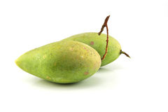 Green mango isolated on a white background Royalty Free Stock Photo
