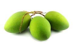 Green mango. On white background Royalty Free Stock Images
