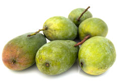 Green mango. In white background Stock Photo