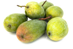 Green mango. In white background Stock Image