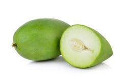 Green mango on white background Royalty Free Stock Photos
