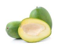 Green mango on white background Stock Images