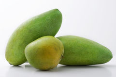 Green Mangoes. Philippine Green Mangoes on white background Stock Photography