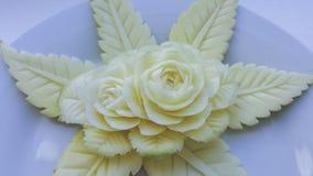 Green mangoes carving. Royalty Free Stock Image