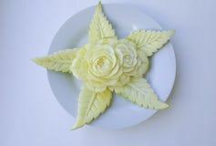 Green mangoes carving. Royalty Free Stock Photography