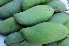 Green mangoes. Fruit use for background Stock Photo