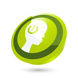 Green manpower button stock illustration