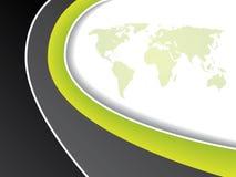 Green map brochure design Royalty Free Stock Image