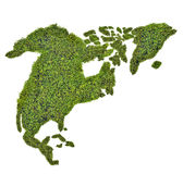 Green map of North America Royalty Free Stock Images