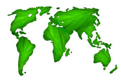 Green map of the world Royalty Free Stock Photos