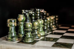 Green marble chess board Stock Images