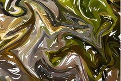 Green marble gems stone pattern. Unique artwork texture. Artwork marbled paper. Vector marbled illustration.  stock illustration