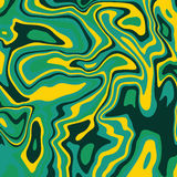 Green Marble ink texture acrylic painted waves texture background Stock Photos