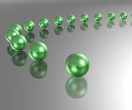 Green Marbles Stock Photos