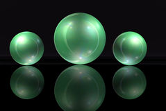 Green Marbles Stock Photo