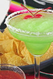 Green margarita cherries chips Royalty Free Stock Photos
