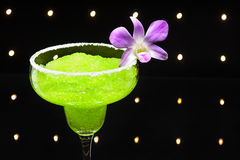 Green margarita cocktail Royalty Free Stock Image