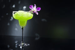 Green margarita cocktail Stock Image