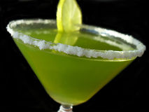 Green margarita with lime Stock Photo