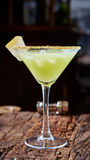Green margarita melon cocktail Stock Photography