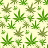 Green marijuana background vector illustration seamless pattern marihuana leaf herb narcotic textile Stock Image