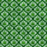 Green Marijuana Tile Pattern Repeat Background Stock Photos