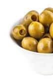 Green marinated olives Royalty Free Stock Photos