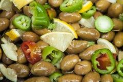 Marinated olives Royalty Free Stock Image