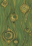 Green marine fantastic pattern Royalty Free Stock Photography