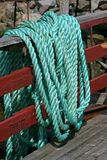 Green Marine Rope Royalty Free Stock Images