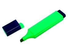 Green marker. Green highlighter isolated on white Stock Image