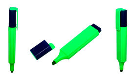 Green marker. Green highlighter isolated on white Royalty Free Stock Images
