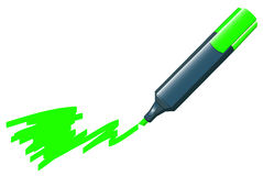 Green marker Stock Photography