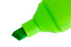 Green Marker Macro Closeup Isolated Stock Photos