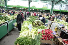 Green market Stock Images